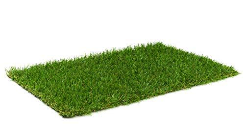 Kunstrasen Rasenteppich Madeira für Garten - Florhöhe 25 mm - Gewicht ca. 2043 g/m² - UV-Garantie 10 Jahre (DIN 53387) | Rollrasen | Kunststoffrasen 2 m x 8,5 m
