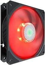 Cooler Master SickleFlow 120 Red LED Case & Cooling Fan - Translucent Air Balance Blades, 62 CFM, 2.5 mmH2O, 8 to 27 dBA - Red LED