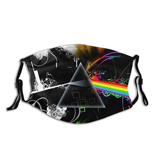 HUAYEXI Gezicht Cover,Abstracte een andere baksteen Dark Floyd In Moon Multicolor Muziek Van Roze Rots Side De Muur,Balaclava Unisex Herbruikbare Winddicht Anti Stof Mond Bandanas Outdoor Camping Met 2 Filters