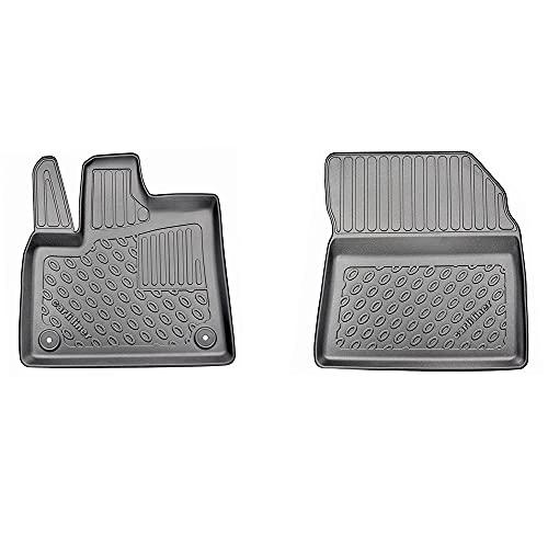 carli liner Alfombrillas Coche de PE con Borde 3D, 2 Piezas para Delantera Izquierda+Derecha a Medida para Citroen Berlingo III (K9) / Opel Combo Life (X19) / Peugeot Rifter/Toyota Proace City Verso