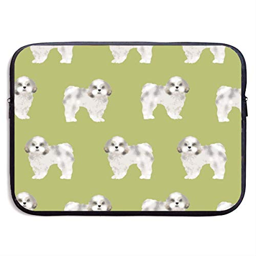 Shih Tzu Fabric Lime Cute Dog Fabric Toy Laptop Sleeve Bag Case,Laptop Briefcase Soft Carring Tablet Travel Case,13 inch