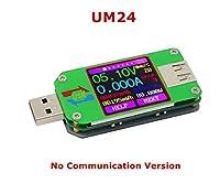 Ladicha ルーデン UM24/UM24C USB 2.0 色 LCD の表示テスター電圧現在のメートルボルトの Amperimetro の電池充満測定ケーブルの抵抗 - A
