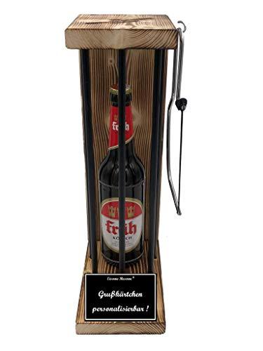 * Personalisierbar Die Eiserne Reserve ® Black Edition mit Früh Kölsch 0,50L incl. Bügelsäge zum zersägen der Stäbe - lustige Geschenk - Die Geschenkidee