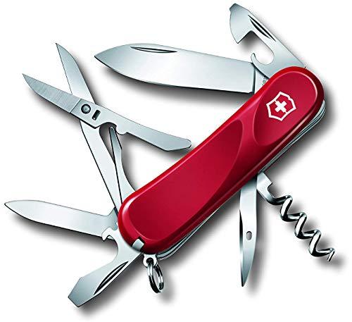 Victorinox Taschenmesser Evolution Grip 14 (14 Funktionen, Klinge, Schere, Pinzette, Korkenzieher) rot