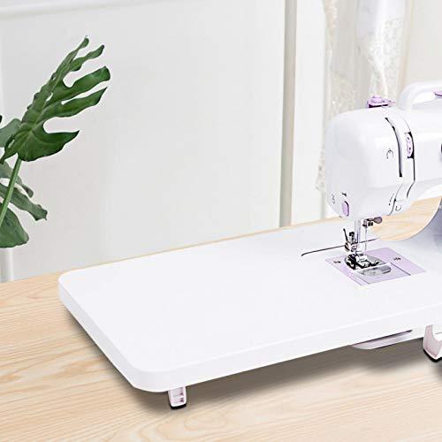 Raguso Mini Mesa de máquina de Coser Plegable de plástico Universal para Principiantes Hacer Manualidades Costura en casa