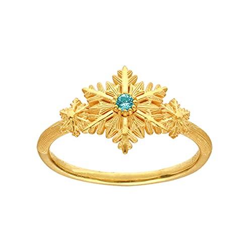 PRIMAGOLD(プリマゴールド) 純金 レディース リング スノーフレーク ブルートパーズ 指輪 K24 24金ジュエリー (13)