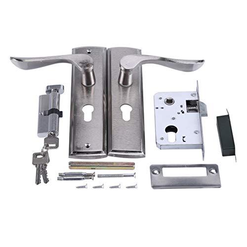 Schlosstür, langlebiger Türgriff Schlosszylinder vorne hinten Hebelverriegelung Home Security mit Schlüsseln