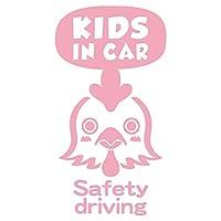 imoninn KIDS in car ステッカー 【パッケージ版】 No.69 ニワトリさん (ピンク色)