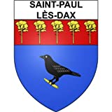 Saint-Paul-lès-Dax 40 ville Stickers blason autocollant adhésif - Taille : 17 cm
