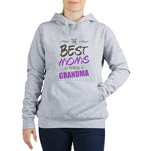 CafePress Great Moms Get Promoted to Grandma Women's Hooded Women's Hooded Sweatshirt Light Steel