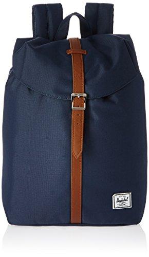 Herschel 10011-00007 Pop Quiz Backpack Rucksack, 1 Liter,Blau(Navy/Tan Synthetic Leather Backpack)