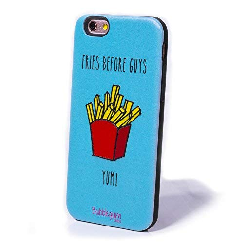 Bubblegum Cases FRIES BEFORE GUYS, iPhone 5 Case iPhone 5s Se Case, Cute Kawaii Funny Cartoon Character, Protective Silicone & Hard Back Cover for Girls & Wome (iPhone 5 5s se, Fries)