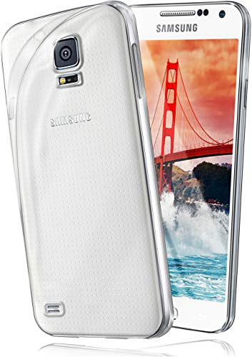 moex Aero Case für Samsung Galaxy S5 Mini - Hülle aus Silikon, komplett transparent, Handy Schutzhülle Ultra dünn, Handyhülle durchsichtig - Klar