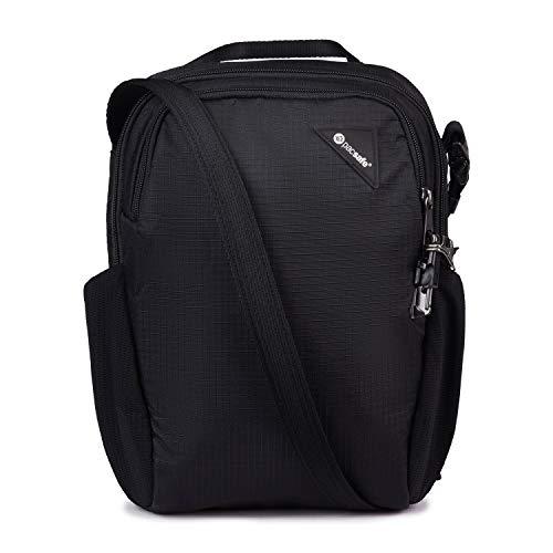 Pacsafe Vibe 200 7.5L 盗難防止コンパクトトラベルショルダーバッグ - 10.5インチタブレットにフィット ジェットブラック