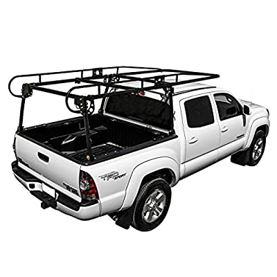KML Black Adjustable Truck Contractor Ladder Rack Pick Up Lumber Kayak Utility