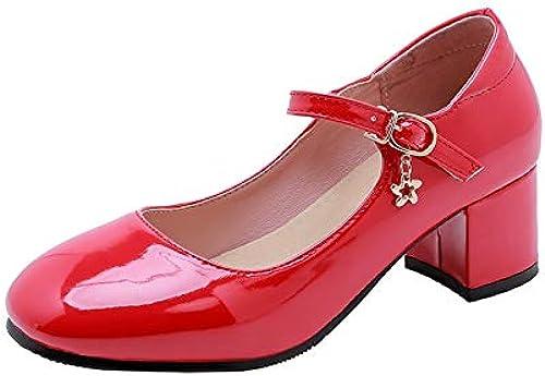 HommesGLTX Talon Talon Aiguille Talons Hauts Sandales 2019 Nouvelle Arrivée Rétro Mary Jane Chaussures Femme Printemps été Unique Chaussures Bout Rond Boucle Chaussures De Soirée Femmes Pompes  différentes tailles