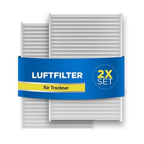 Luftfilter 2x Filter für Trockner Ersatz für Bosch 00481723 481723 Siemens Neckermann Lloyds Air-Filter Set 140x95x17mm
