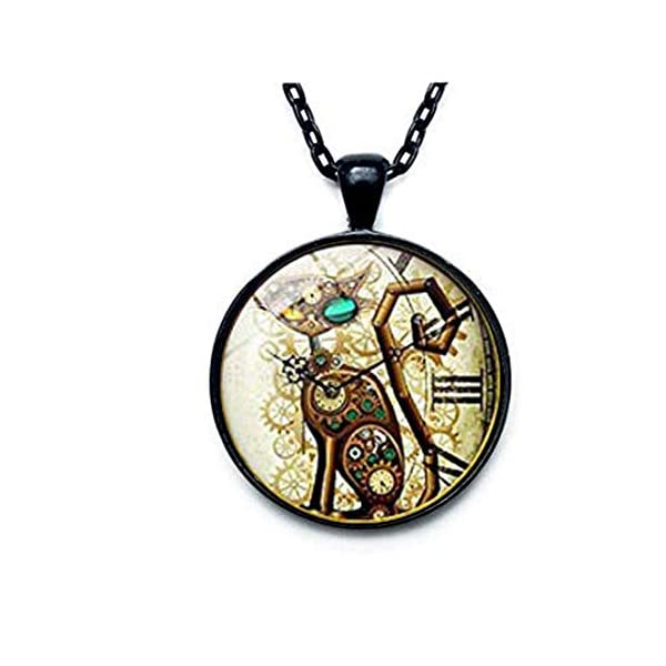 Steampunk Cat Pendant. Steampunk Cat Necklace. Steampunk Retro jewelry. Birthday gift, Gifts for Him, Gifts for Her 3
