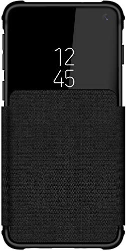 Ghostek Exec Slim Leather Card Holder Folio Wallet Case Designed for Galaxy S10 – Black