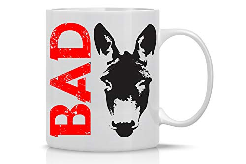 Bad Ass - 11oz White Ceramic Coffee Mug - Funny Sarcastic Mugs - Badass Donkey Office Tea Mug - Cute Gag Gifts for Family, Friends, Bosses, Ceo and Employees - By CBT Mugs
