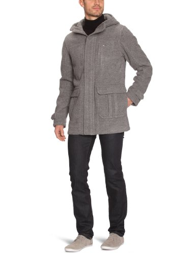 Quiksilver Cyclone-KPMJK333 Manteau zippé avec capuche homme Light Grey Heat S