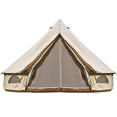 GJR-JJ Tienda de campaña Tela Campana Tienda Canadiense/a Prueba de Agua Agujero Estufa al Aire Libre con Glamping