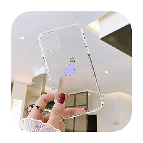 Linda historieta fruta sandía animal ballena teléfono caso transparente para iPhone 11 12 mini pro XS MAX 8 7 6 6S Plus X 5S SE 2020 XR-a11-iPhone11