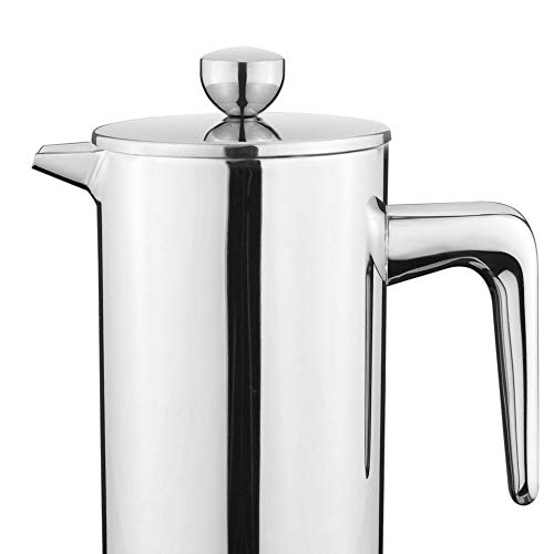 New Style Stainless Steel French Press Coffee Percolators Coffee Maker Best Double Wall Coffee Pot Giving One Filter Basket,300ml