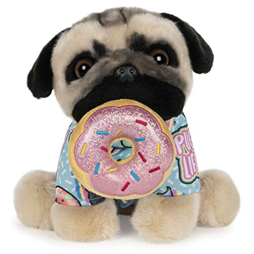 GUND Doug The Pug Donut Dog Stuffed Animal Plush, 9""