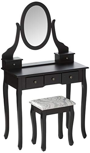 Mecor Vanity Table Oval Mirror,Makeup...