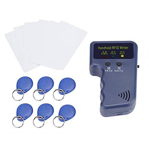 RFID Reader Writer, 125KHz 5W Llave de Mano Llave Lector de Tarjetas Duplicadora Copiadora ID Card Reader Escritor Programador con 6 llaveros/6 Tarjetas