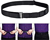 Wersoa Premium Cotton Adjustable Wrinkle-Free Non-Garters Military Vest Stay Clamps Ultra-Quality Elastic Slip