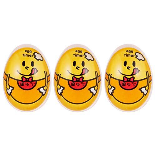 Veraing Eieruhr, Farbe Kochei Egg Timer Veraenderung Eieruhr Farbwechsel Eiförmige Mechanische Farbwechsel Eieruhr für Weichgekochte Wachsweiche Hartgekochte Eier(3 Stücke)