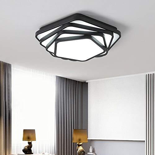 Nordic Style LED patch creatieve geometrie zwart acryl lampenkap ijzer hoge transmitantie dimbaar plafondlamp slaapkamer restaurant studie lampen 40 cm / 50 cm / 60 cm / 80 cm - Startside warm blanket