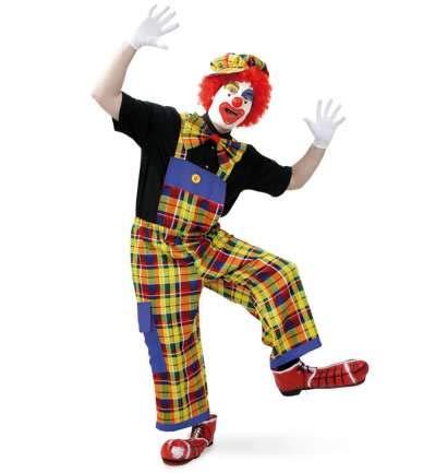 Latzhose Pebba Clownhose Accessoire für Clownkostüm Spaß Fun Zirkus Witzbold Harlekin Kostüm für Erwachsene (Large)