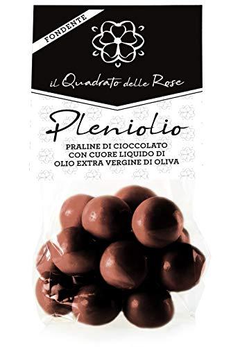 Quadrato delle Rose Praline di Cioccolato Fondente Ripiene di Olio Extra Vergine di Oliva - 100 g