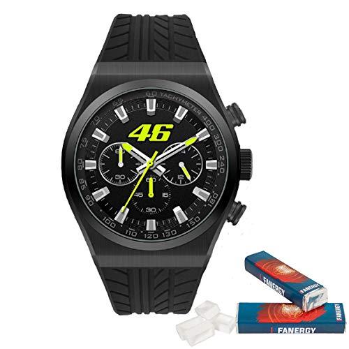 Valentino Rossi - Reloj de pulsera (46', incluye 2 pastillas de azúcar), color negro