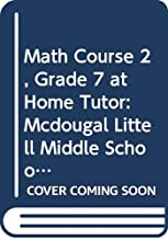 McDougal Littell Math Course 2: @Home Tutor CD-ROM