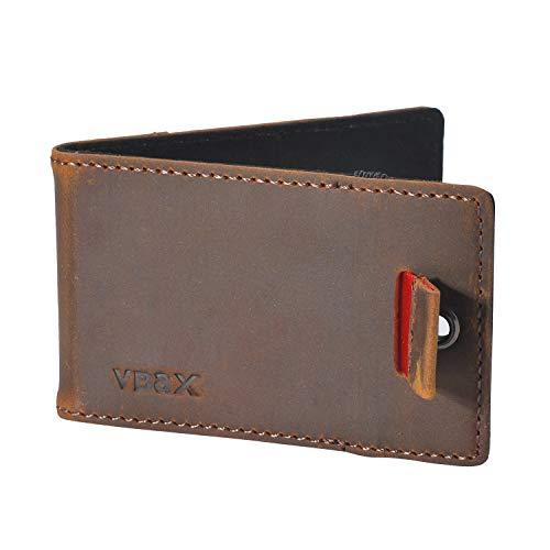 Ebax Herren Geldbörse/Geldbörse mit RFID- / Kreditkartenfächern - Braun - Segeltuch