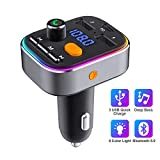 HOLALEI Transmetteur FM Bluetooth, Appel Main Libre Bluetooth V5.0, Adaptateur Radio...