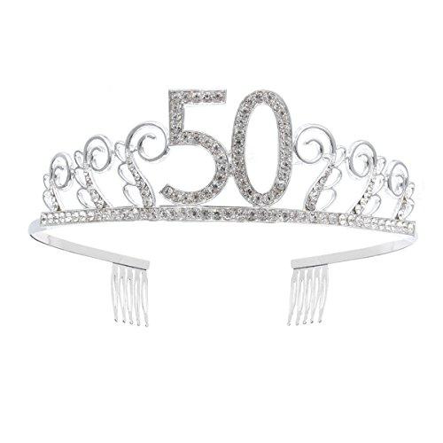 Frcolor Corona Cumpleaños 50 Años Diadema Cumpleaños