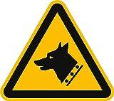 Panneau d'avertissement avant impression sur toile motif chien de garde, conformément à la norme iSO 7010 20 sl pVC conformément à la norme iSO 7010 w013