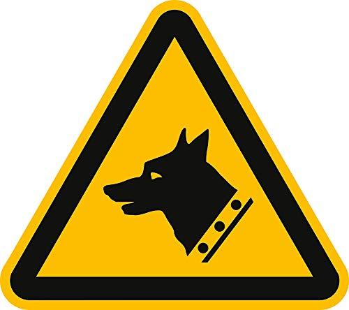 Schild Warnung vor dem Hund gemäß DIN 7010 20 cm PVC (Wachhund, Warnschild, Achtung Hunde) wetterfest