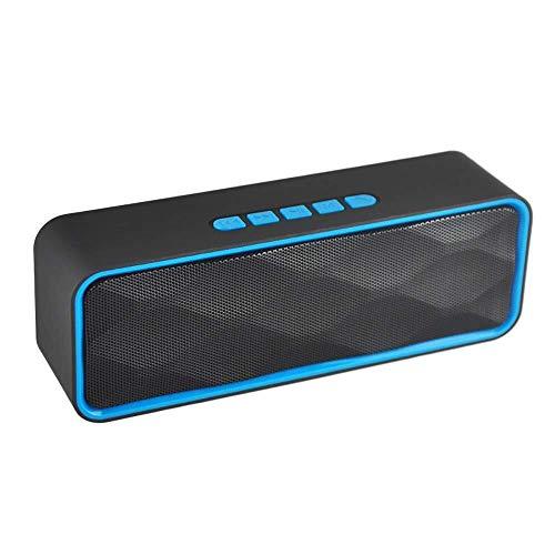 KK Zachary HYY Wireless Outdoor Bluetooth Lautsprecher, Handy-Car Smart Mini-Stereoanlage, 12W HD Sound und Bold Bass, freihändig, 12H Wiedergabezeit, Grau (Farbe : Blue)
