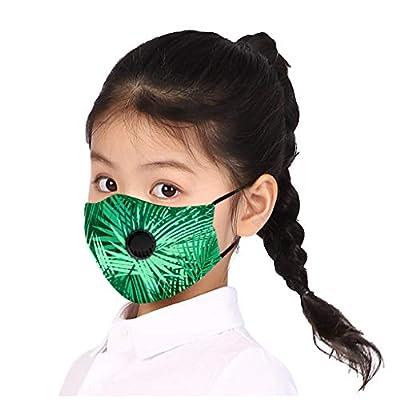 Luckylin Kids Reusable Face Màsc Bandanas, Children Printing Face Bandanas with Breathing Valve, Dust Face Health for Kids Outdoor Home, Washable Reusable