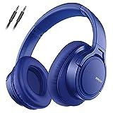 Mpow H7 Cascos Bluetooth 5.0 Diadema, 25hrs de Reproducir, Hi Fi Sonido, Cascos Bluetooth Inalámbricos con Micrófono Incorporado, Auriculares Bluetooth Diadema para TV, Móvil, PC, Azul