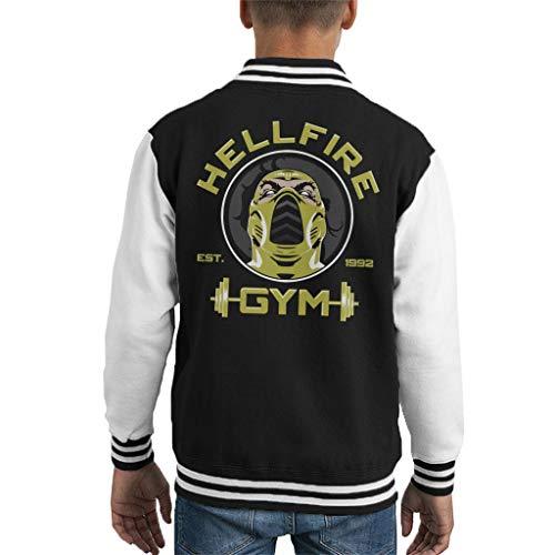 Cloud City 7 Hellfire Gym Scorpion Mortal Kombat Kid's Varsity Jacket