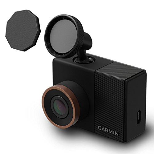 Garmin Dash Cam 55 1440p GPS Camera with Voice Control, Black/Brown