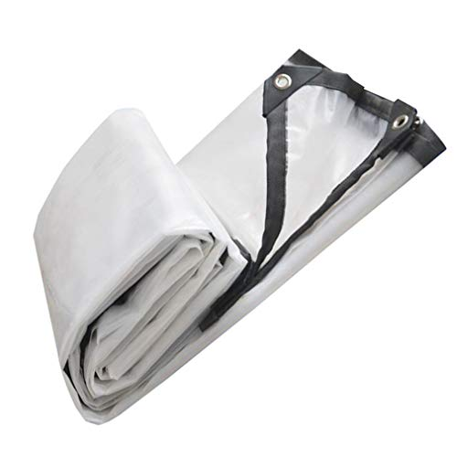 SACYSAC Transparentes regenfestes wasserdichtes Tuch PVC verschleißfeste reißfeste Plane-Anti-Aging-Dicke 0,12 mm,2 * 3m