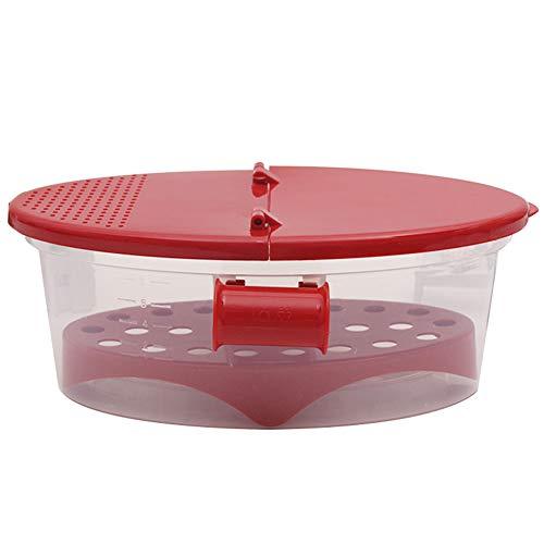 Microondas Cuecepasta, Resistente Calor PP Microondas Vapor Colador De Cocina Herramientas Maraña